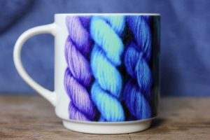 Rainbow knitting wool yarn mug by Artemie